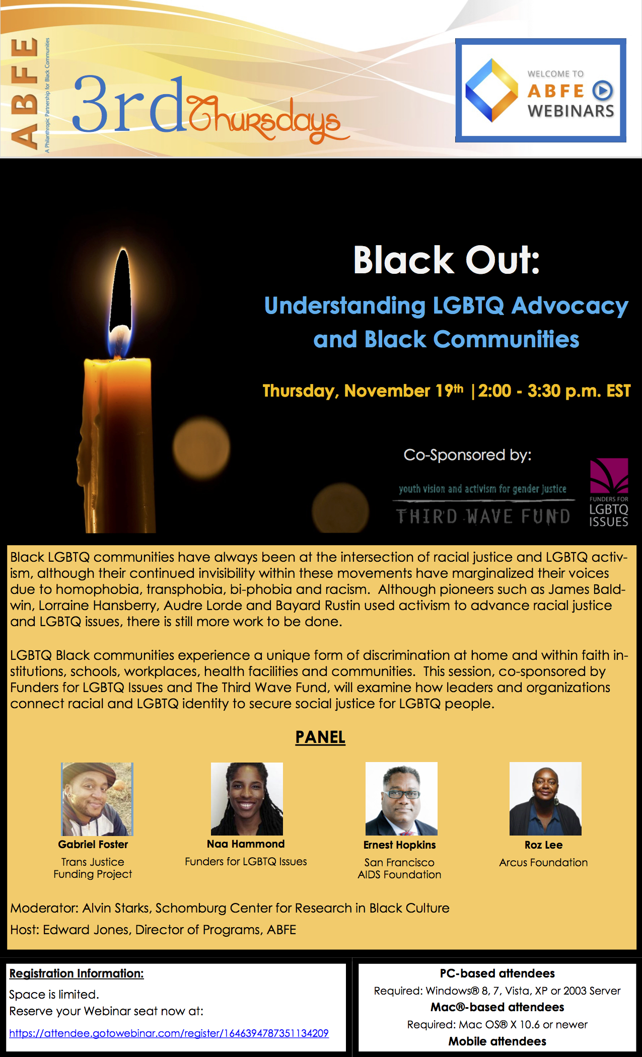 Black Out - November 2015 ABFE Webinar Series - Flier