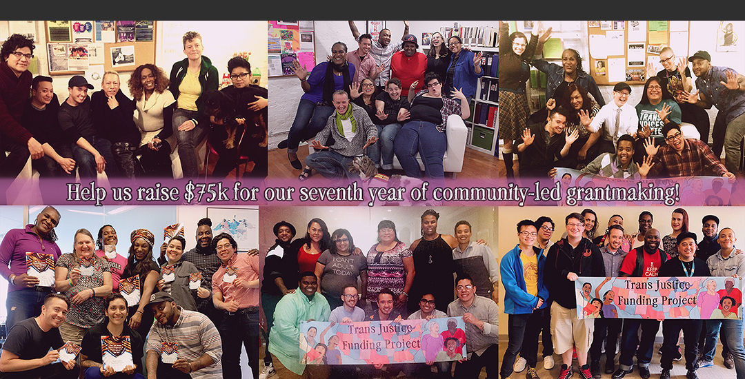 2019 Trans Justice Funding Project fundraising goal for seven years of grantmaking!