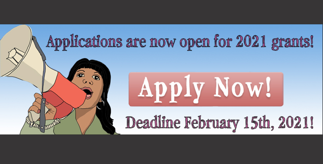Applications are now open for TJFP 2021 grants!